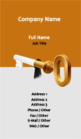 Orange Locksmith Business Card Template